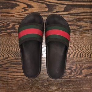 Gucci men's black slides